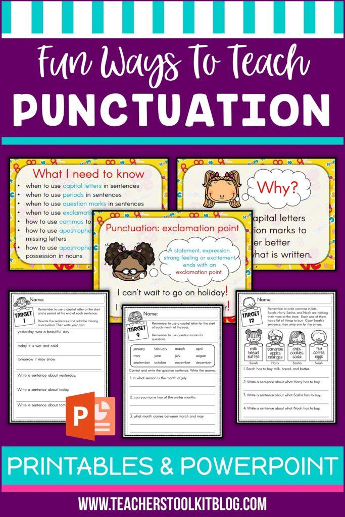 Fun Ways To Teach Punctuation Teacher S Toolkit Blog